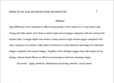 Research article abstract