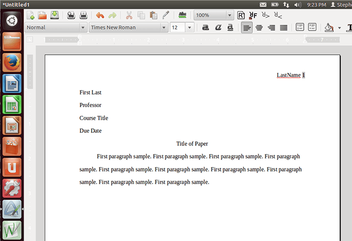 proper essay heading for college