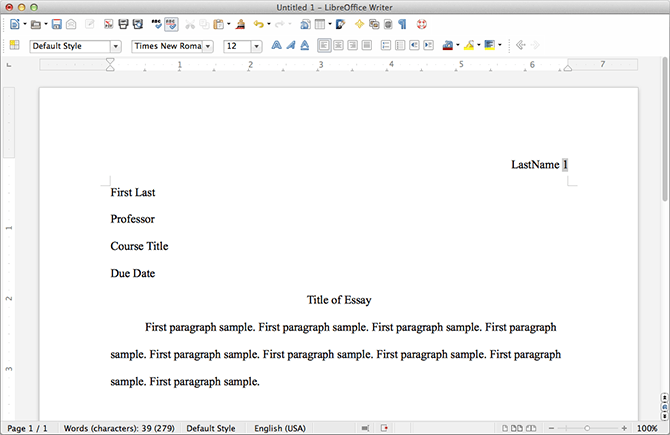 How to set up your paper in MLA format using Microsoft Word 2010 ...