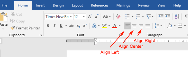 Click On The Align Left Icon To Bring Your Blinking Cursor