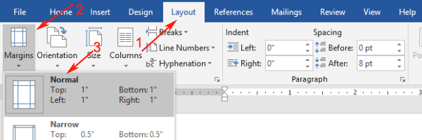II How To Set The Margins In Microsoft Word 2019