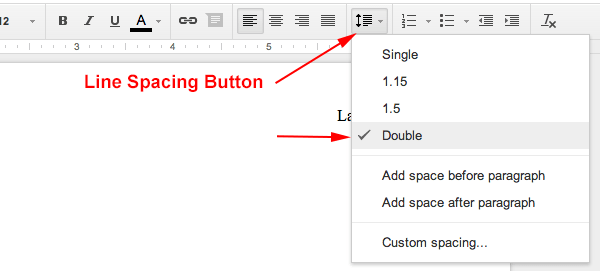 mla format google docs mla format iv how to setup line spacing to double spaced