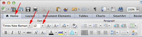 mla format mac word