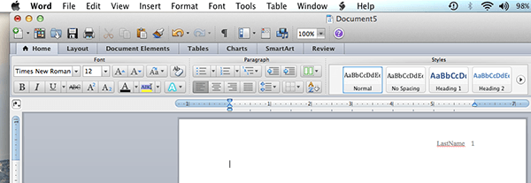 how do i get mla format on microsoft word