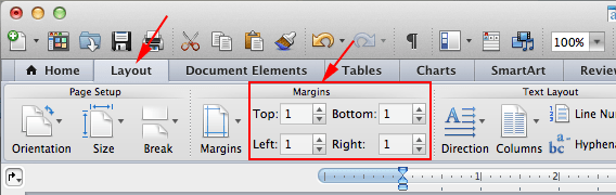 how to change paper size in microsoft word mac
