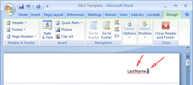 mla formatting in word