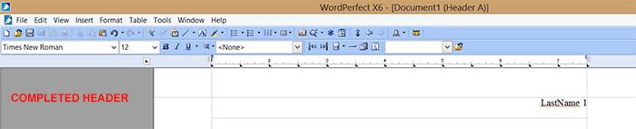 wordperfect-completedmlaheaders